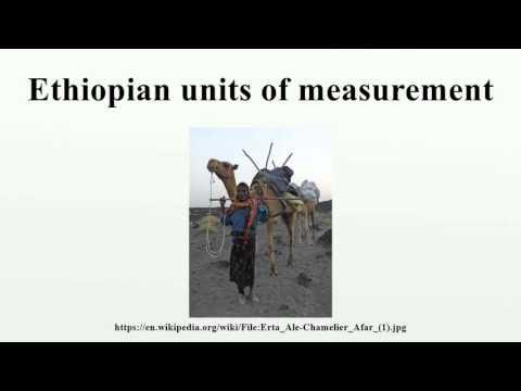 Ethiopian units of measurement