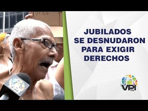 Caracas - Jubilados se desnudaron para exigir sus derechos - VPItv