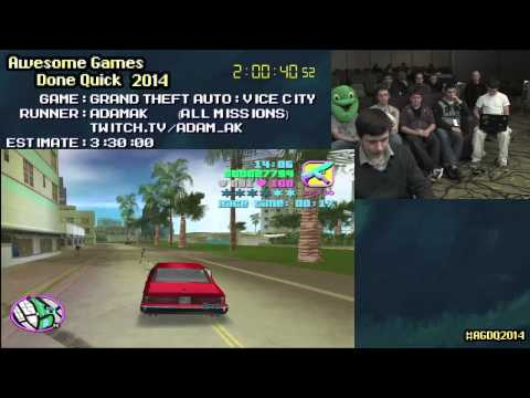 Grand Theft Auto: Vice City :: SPEED RUN in 3:03:23 All Missions by AdamAK #AGDQ 2014