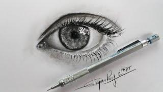 How to draw an eye with pencils -Hướng Dẫn Vẽ Mắt Bằng Bút Chì - DP Truong