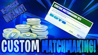 FORTNITE V-BUCKS GIVEAWAY LIVE! ( FORTNITE BATTLE ROYALE ) MATCHMAKING PERSONNALISÉ! (FORTNITE CREATIVE!)