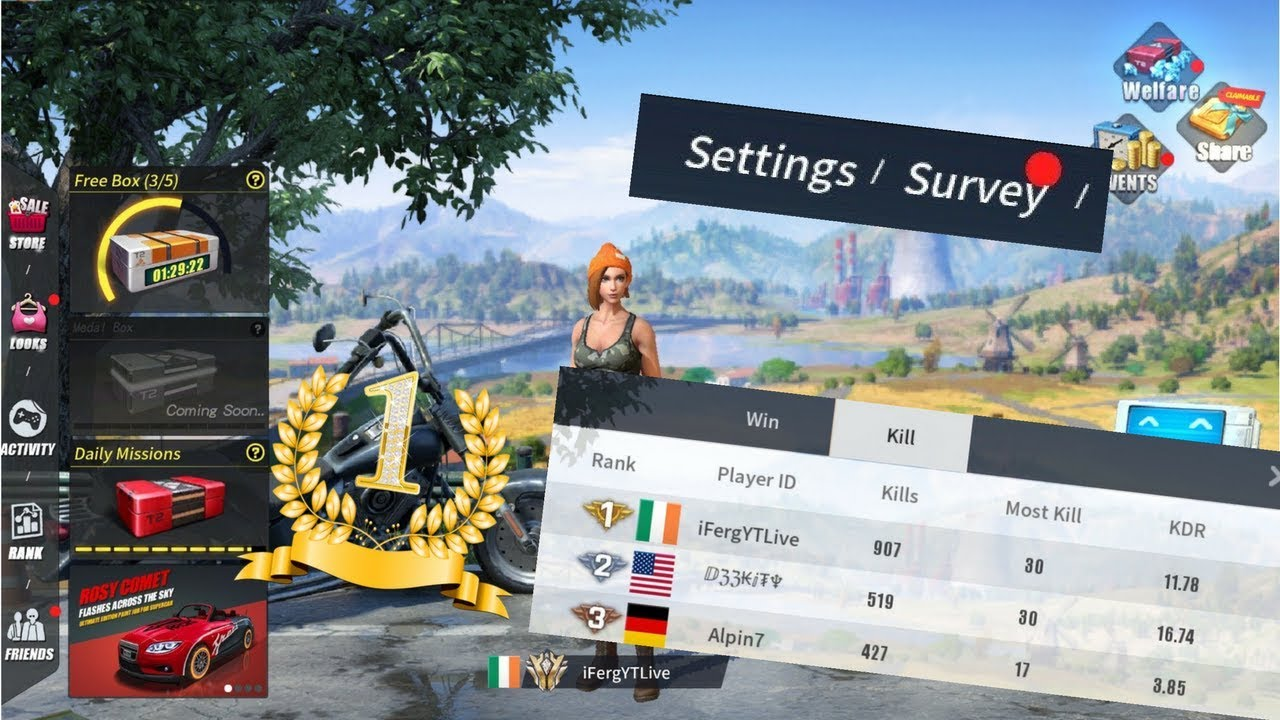 rules of survival tracker