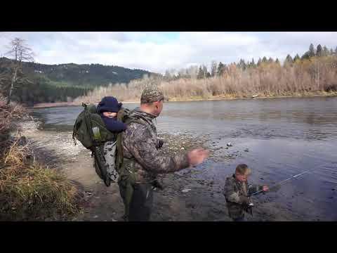 Bank Fishing The Rogue River Oregon Near Grants Pass For Steelhead/Coho Salmon.