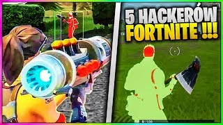 5 HACKERÓW CAUGHT LIVE IN FORTNITE SEASON 6!!