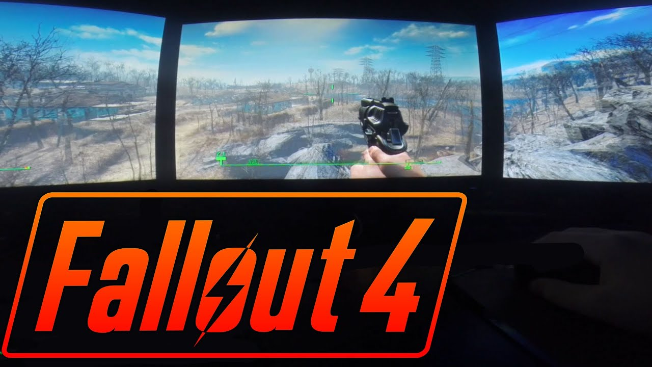 Fallout 4 on TRIPLE MONITORS! (Nvidia Surround GTX 980) - YouTube