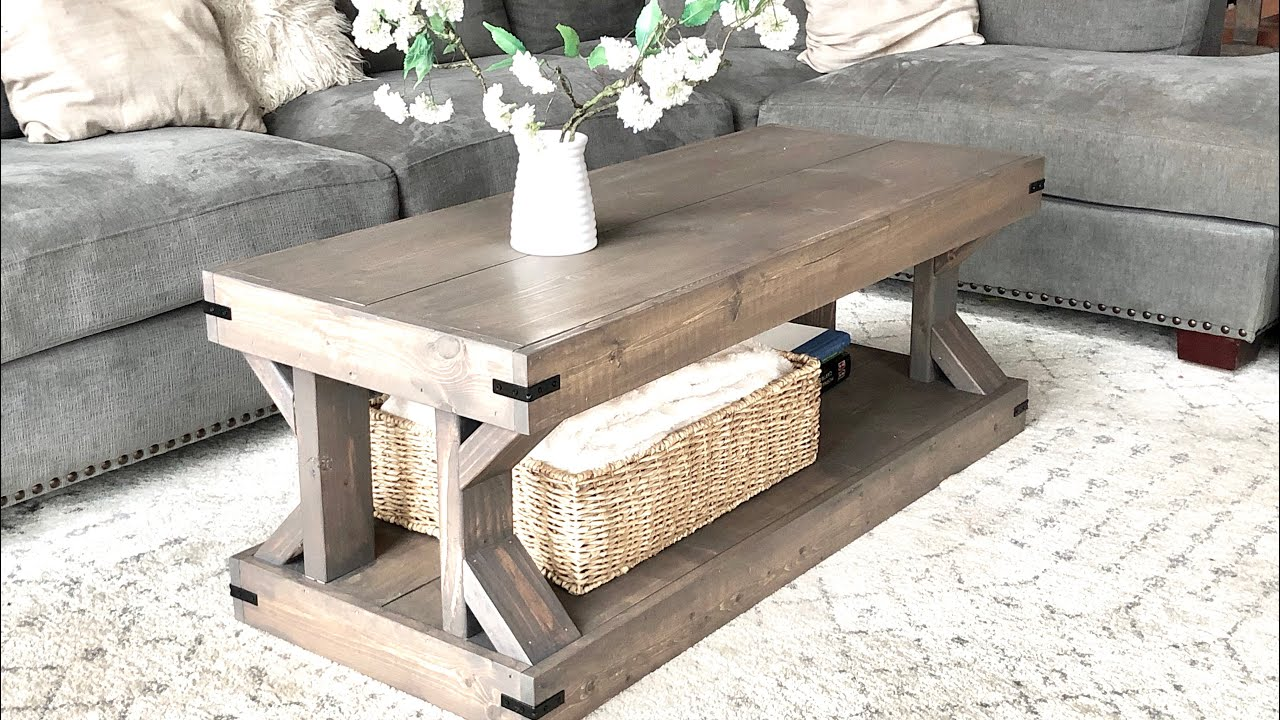 - Coffee Table [Modern Farmhouse Collection] Ana White