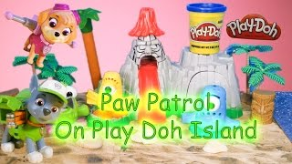 PAW PATROL Nickelodeon Paw Patrol on Play Doh Island a Paw Patrol Play Doh Video