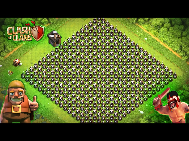 All Troops VS 500 Builders   OMG   clash of clans   coc