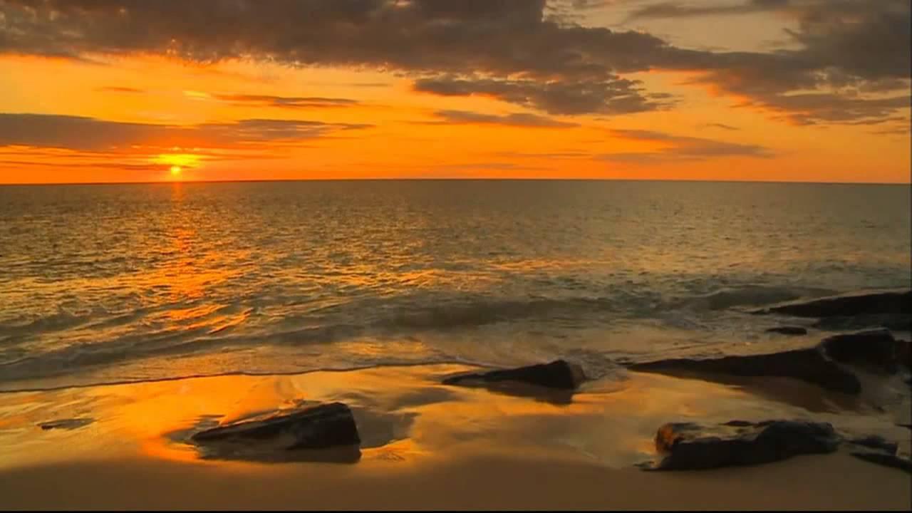 фото закат море