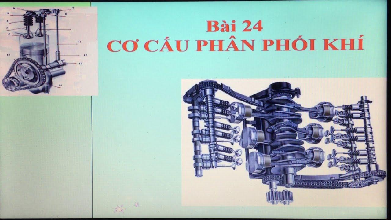 Bài 24: Cơ cấu phân phối khí | công nghệ 11 | ktcn edu