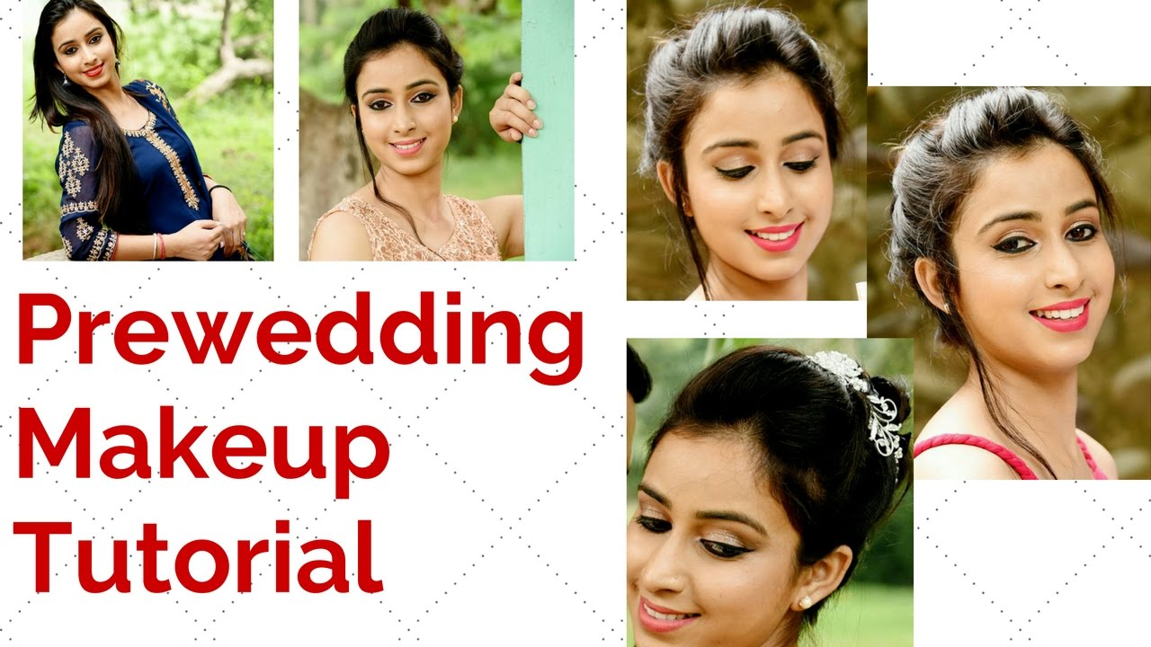 Pre wedding shoot makeup pre wedding makeup tutorial pre wedding shoot makeup pre wedding makeup tutorial whatshellysays youtube baditri Images
