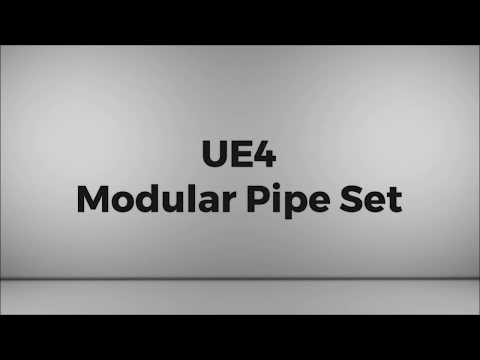 UE4 Modular Pipe Set