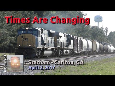 [4l] Times Are Changing, Railfanning Statham - Carlton, GA, 04/02/2017 ©mbmars01