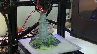 M3D Crane Quad - Full Color 3D Print Time Lapse - Tower