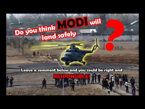 Manipur University   Modi Helicopter trial landing   105th Indian Science Congress 2018