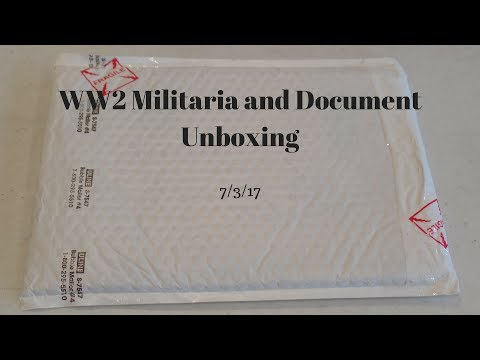 WW2 Militaria and Document Unboxing 7/3/17