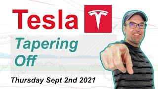 Tesla (TSLA) Tapering Off - Technical Stock Analysis September 2nd 2021