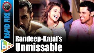 Download Randeep Hooda   Kajal Aggarwal's UNMISSABLE Rapid Fire On Salman Khan   Sultan   Akshay Kumar Mp3 and Videos