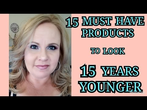 15 PRODUCTS TO MAKE YOU LOOK 15 YEARS YOUNGER | OVER 40 & BEYOND | MATURE SKIN - MATURE WOMAN