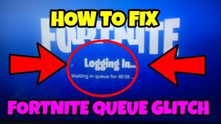 How To Bypass the FORTNITE QUEUE!! Fix for the new update on fortnite!!