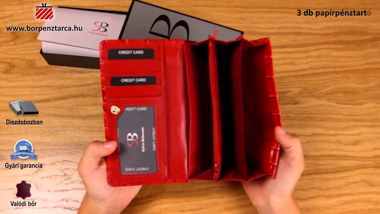 Sylvia belmonte croco bőr pénztárca CR1057 bemutató videó - YouTube 701bd6dd6b