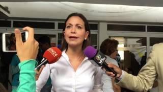 María Corina Machado afirma que se mantendrán en las calles hasta que caiga la dictadura