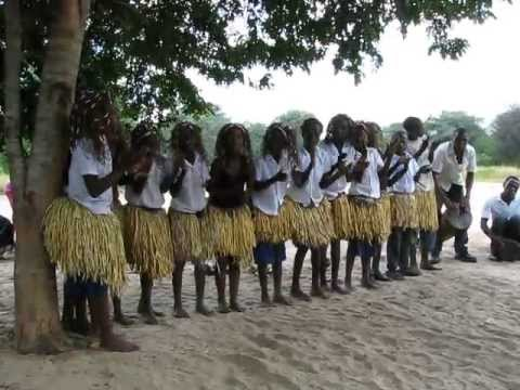 Caprivi school learners perform traditional dance