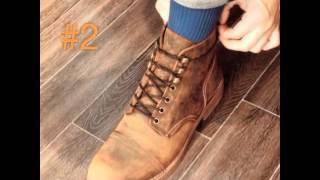 3 cách buộc dây giày boot