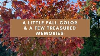 A little FALL color & a few treasured memories