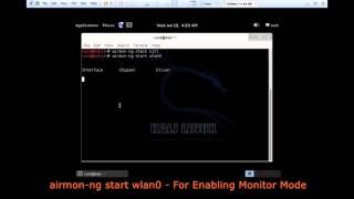 Kali Linux Tutorial 2 : Airmon-ng Commands - Changing Interface into Monitor Mode