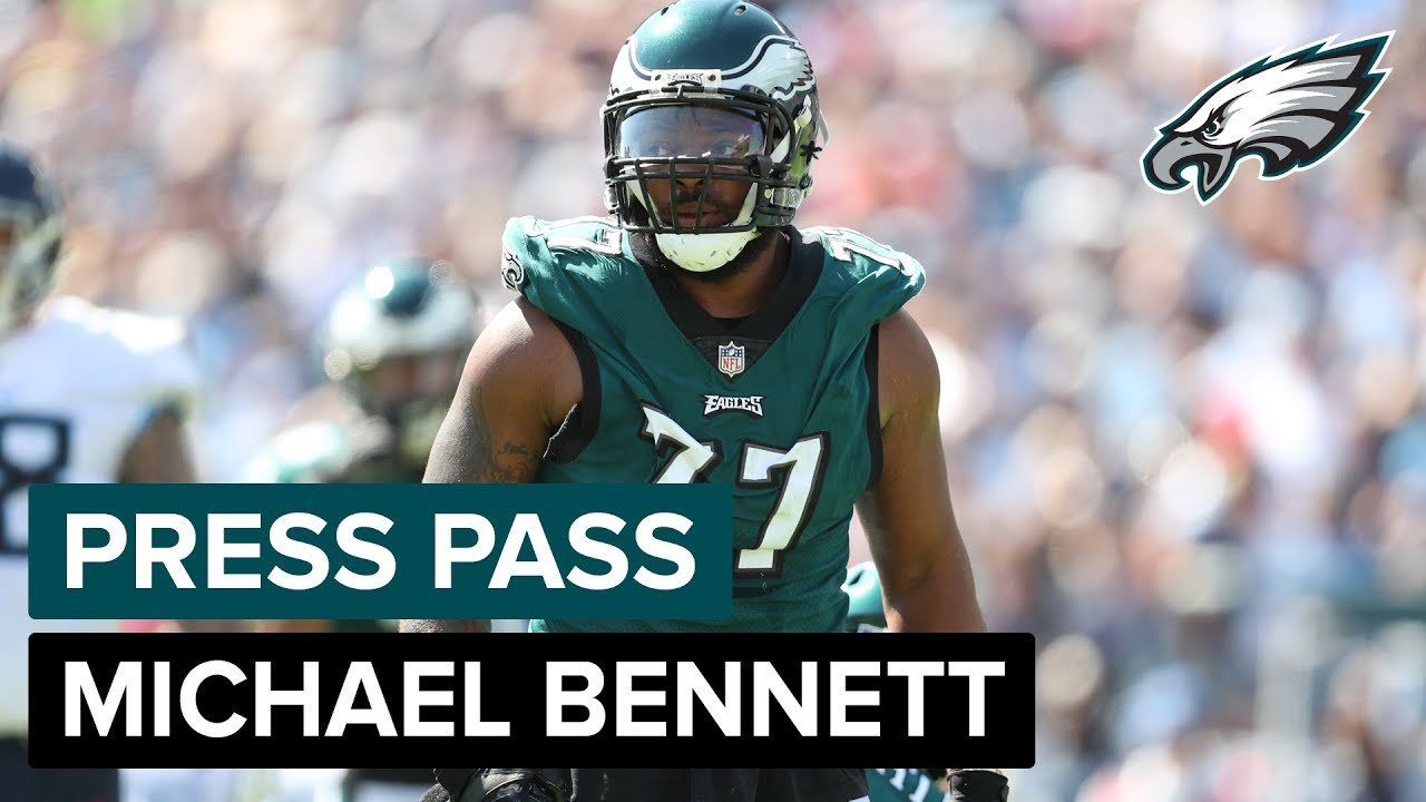 the best attitude 4c5c9 dab33 DE Michael Bennett Praises Fletcher Cox, Talks His Desire To Win | Eagles  Press Pass