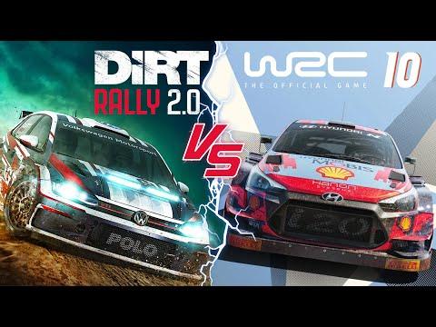 WRC 10 vs Dirt Rally 2.0 Part 1 [Sound Graphics Car damage] - Red Line Limit
