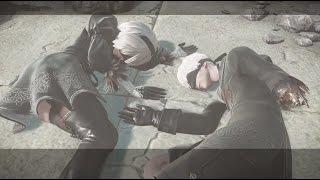 【PS4 Pro】NieR:Automata 実況無しのんびりプレイ その13 エミール戦とD Eエンド(1080p 60fps)