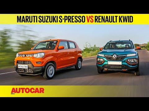Maruti Suzuki S Presso Vs Renault Kwid Comparison Test Autocar