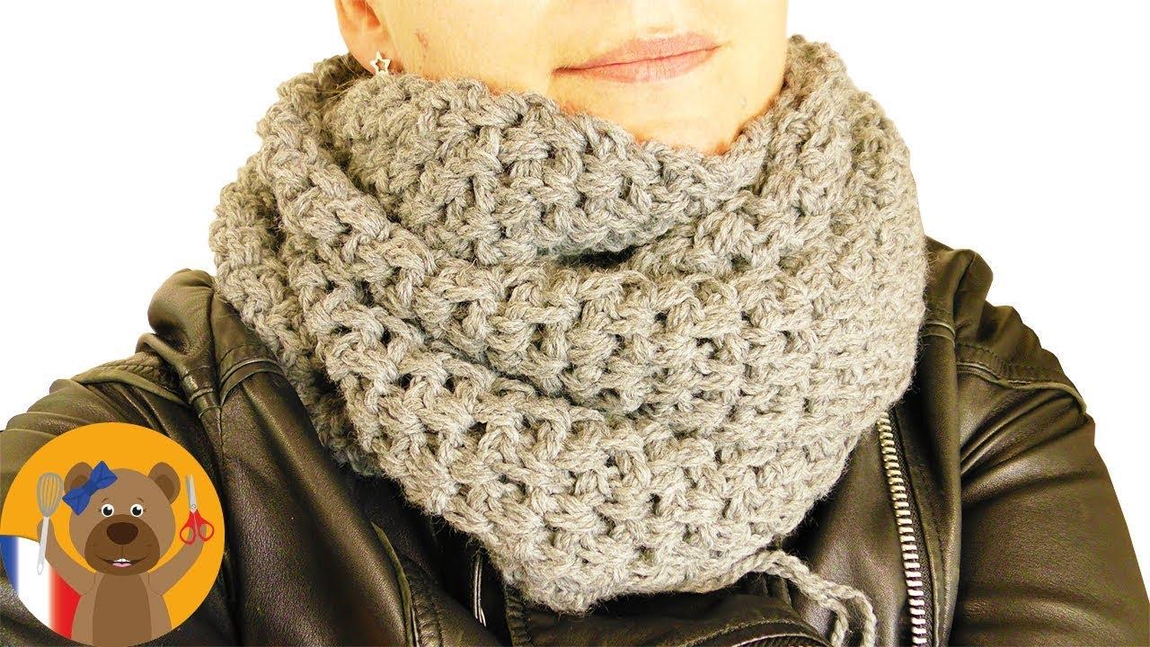Grosse écharpe Au Crochet Instructions Simples Pour Débutants