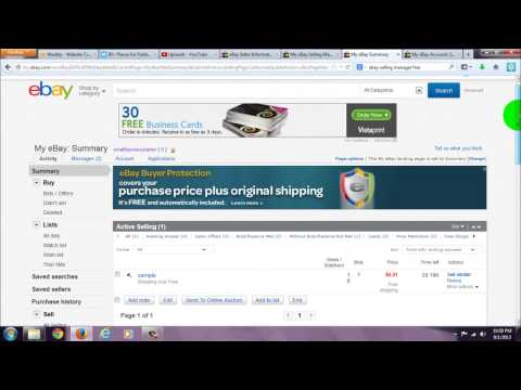 Ebay Apps Tutorial Selling Manager Vs Normal Ebay Page Comparison How To Get It Free Youtube