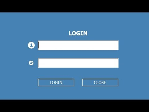 login page in java