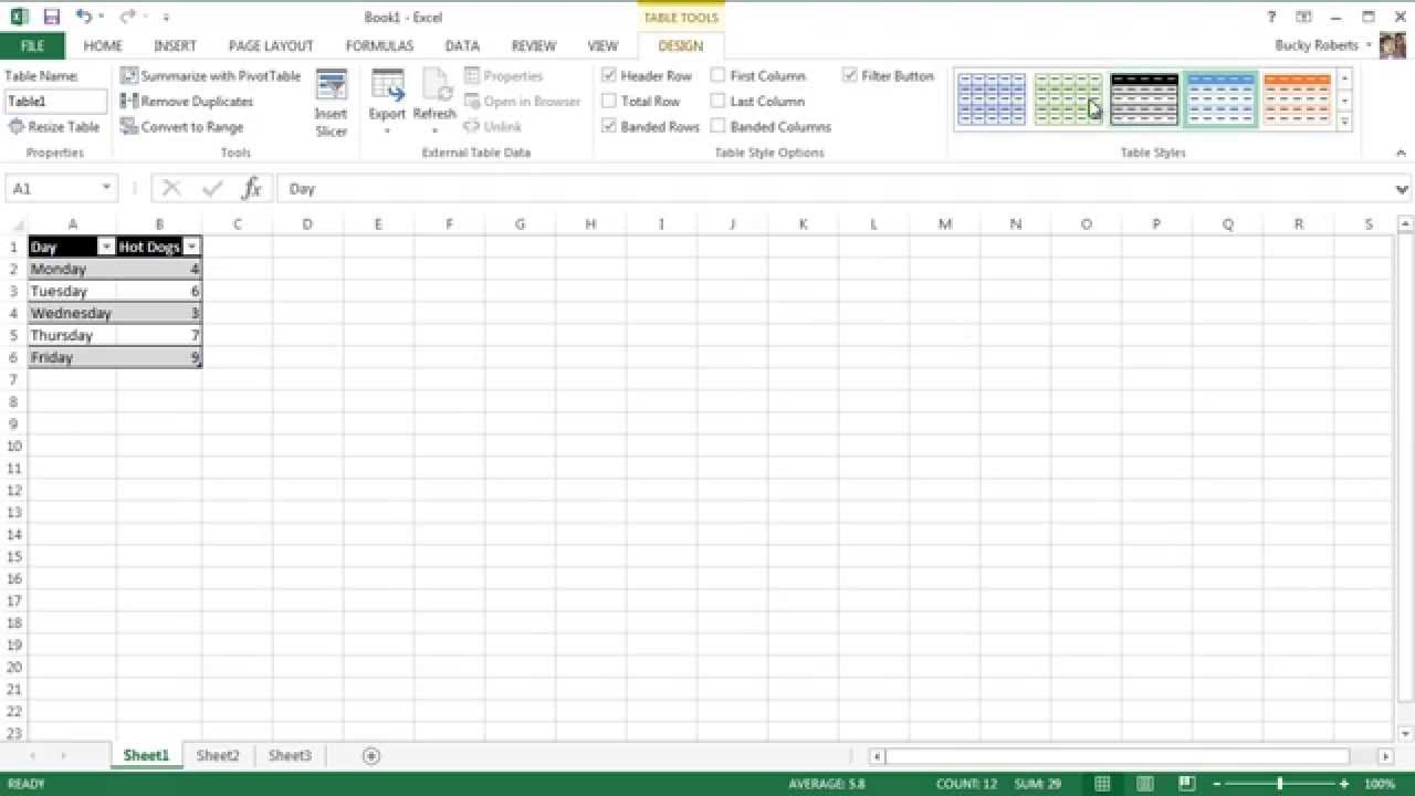 Microsoft Excel 2013 Tutorial - 2 - Making Data Beautiful