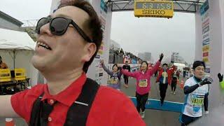 東京マラソン2015ランナーカメラ40km〜ゴール 〜記念品受取 マラソンタオル 検索動画 17
