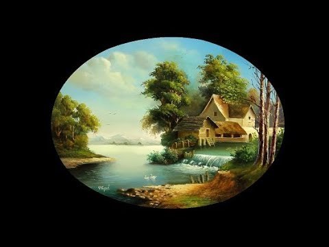 Oval Landscape Oil Painting With Yasser Fayad