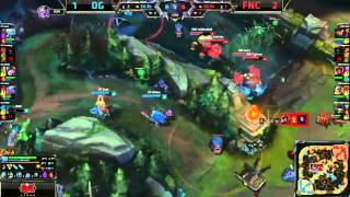 Origen (Niels Tristana) VS Fnatic (Rekkles Corki) Game 4 Highlights {EPIC} - 2015 EU LCS Summer