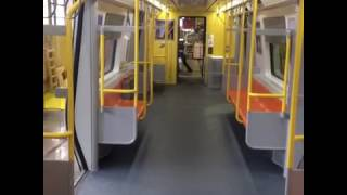 Inside the new Orange Line (mock up) train cars set to be built in Springfield