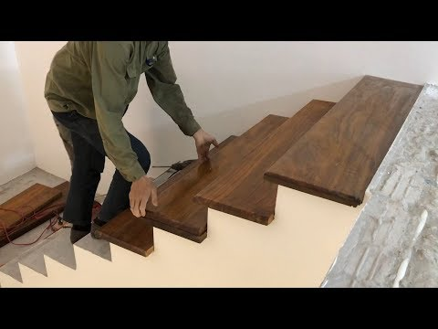 Woodworking Techniques For Stairs You've Never Seen // Build & Install Wooden Steps For New Stairs