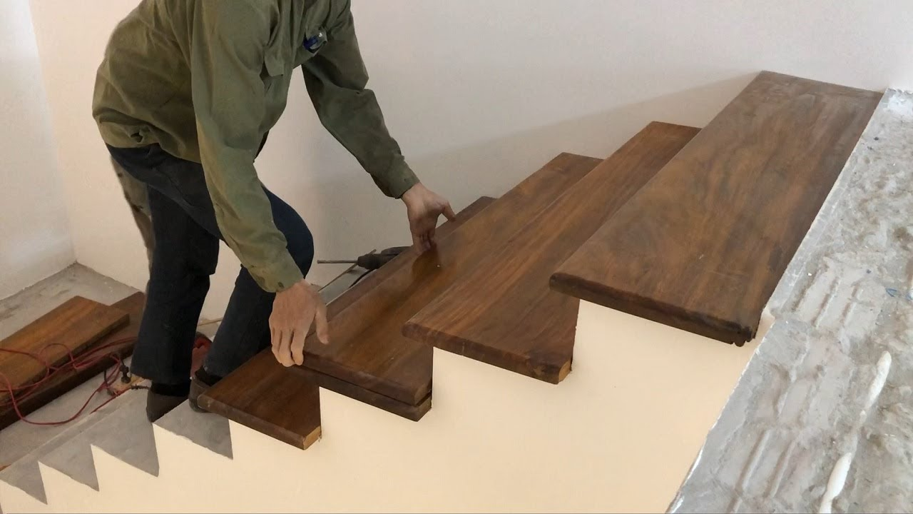 Woodworking Techniques For Stairs You Ve Never Seen Build | Best Hardwood For Stairs | Treads | Oak | Stair Tread | Stain | Laminate Flooring
