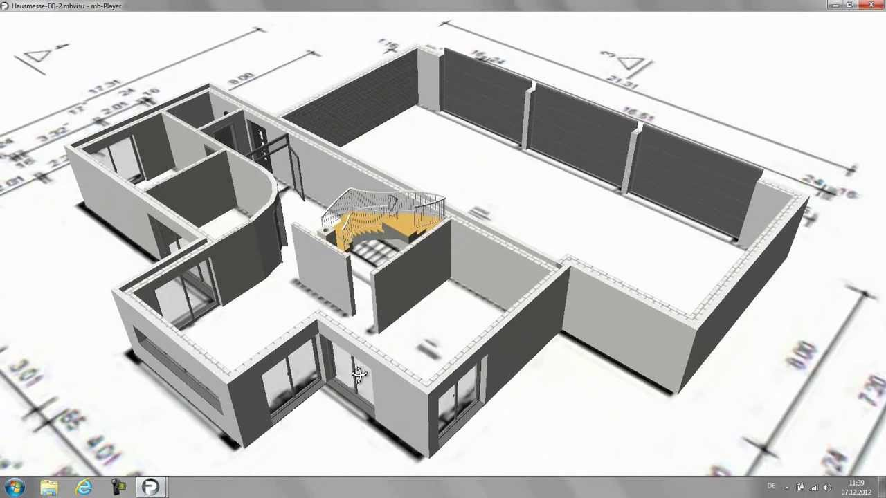 das 3d modell cad f r architektur und tragwerksplanung doovi. Black Bedroom Furniture Sets. Home Design Ideas