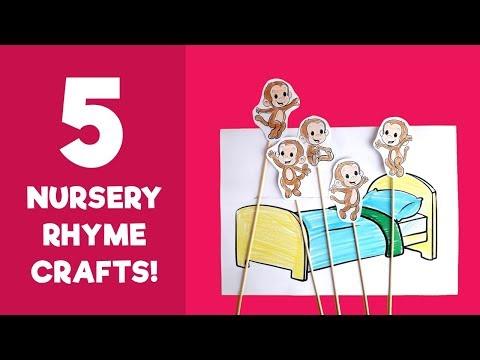 5 Crafts of Nursery Rhymes - Best Crafts of Children's Songs