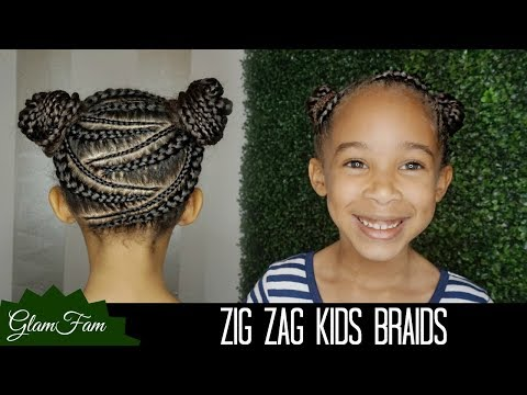 Zig Zag Braid Hairstyle for Kids | How to do Kid's Hair