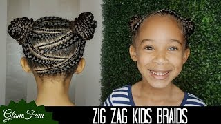 Video Zig Zag Braid Hairstyle for Kids | How to do Kid's Hair download MP3, 3GP, MP4, WEBM, AVI, FLV Januari 2018