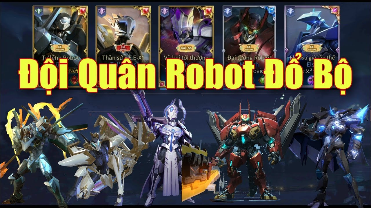 [Gcaothu] Phản ứng team địch khi thấy đội quân Robot đổ bộ trực tiếp tàn phá mọi thứ