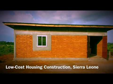 LOW-COST HOUSING CONSTRUCTION WITH INTERLOCKING BRICKS MADE IN SIERRA LEONE